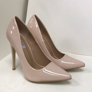 Babe-01 Nude Patent Pumps